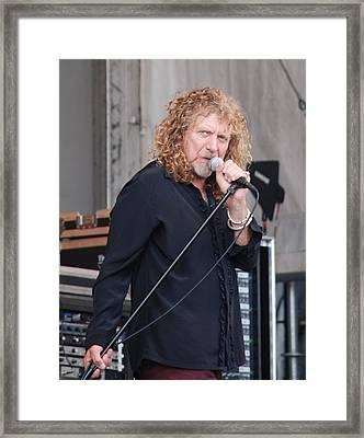 Robert Plant Framed Print by Pamela Schreckengost