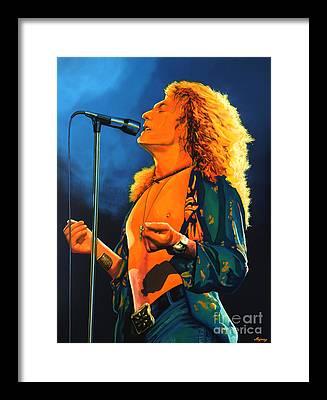 Robert Plant Framed Prints