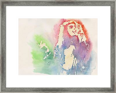 Robert Plant Framed Print by Robert Nipper