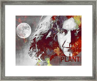 Robert Plant Framed Print by Steve K