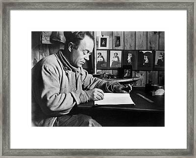 Robert Scott's Antarctic Diary Framed Print by Scott Polar Research Institute