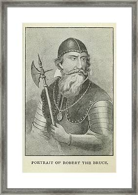 Robert The Bruce Framed Print by British Library