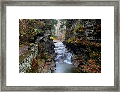Robert Treman State Park Framed Print by Frozen in Time Fine Art Photography