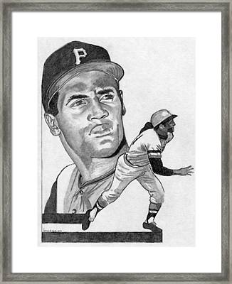 Roberto Clemente Framed Print by Brian Condron