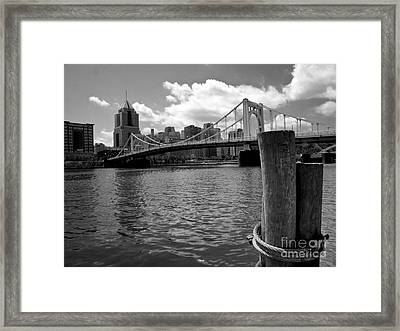 Roberto Clemente Bridge Pittsburgh Framed Print by Amy Cicconi