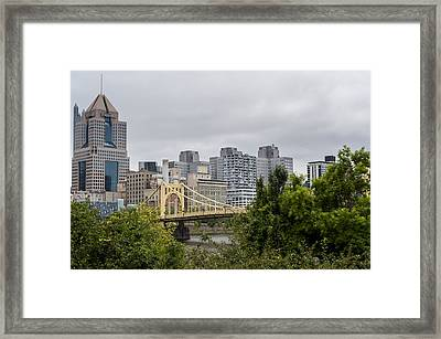 Roberto Clemente Bridge Pittsburgh Pa Framed Print by Terry DeLuco