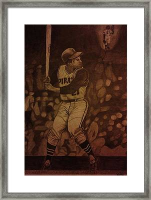 Roberto Clemente Framed Print by Christy Saunders Church