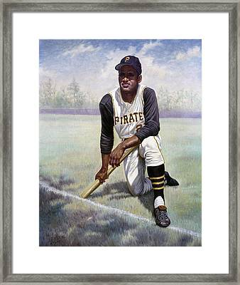 Roberto Clemente Framed Print by Gregory Perillo