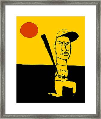 Roberto Clemente Pittsburgh Pirates Framed Print by Jay Perkins