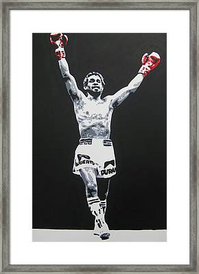 Roberto Duran 1 Framed Print by Geo Thomson