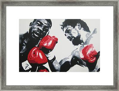 Roberto Duran 2 Framed Print by Geo Thomson