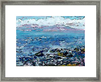 Roberts Creek Beach Framed Print