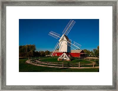 Robertson Post Mill Framed Print by Gene Sherrill