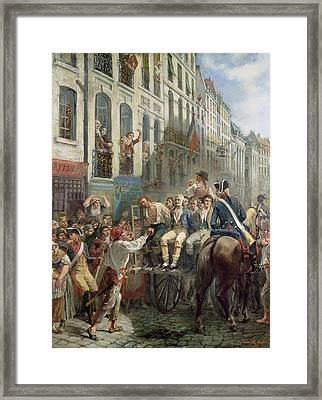Robespierre 1758-94 And Saint-just 1767-94 Leaving For The Guillotine, 28th July 1794, 1884 Oil Framed Print by Alfred Mouillard