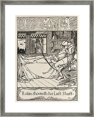 Robin Dying Framed Print by British Library
