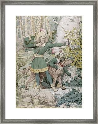 Robin Hood Framed Print by Richard Dadd