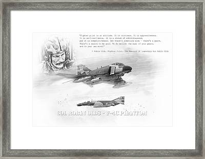 Robin Olds Framed Print by Peter Chilelli