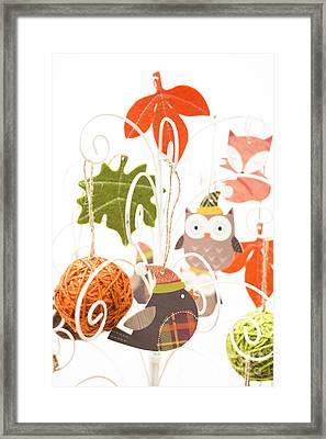 Robin Owl Fox Framed Print
