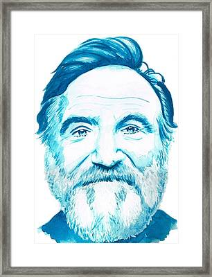 Robin Williams Framed Print by Kyle Willis