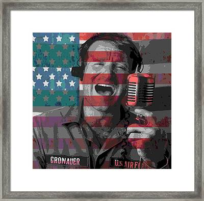 Robin Williams Tribute Good Morning Vietnam Framed Print by Dan Sproul