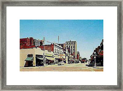 Robins Theatre In Niles Oh In The 1950's Framed Print by Dwight Goss