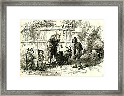 Robinson Crusoe 1869 Or Friday And The Fairies At Covent Framed Print