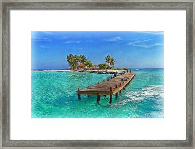 Robinson Island Framed Print