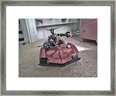 Robo Car Framed Print by Robert Rhoads