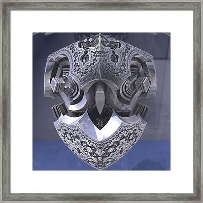 Robot Heart Framed Print