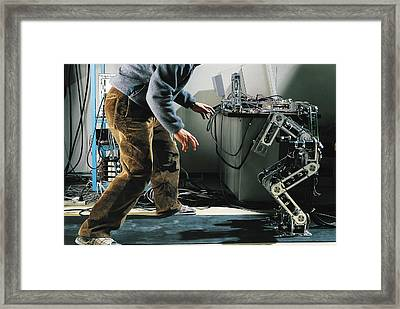 Robot Locomotion Research Framed Print by Peter Menzel