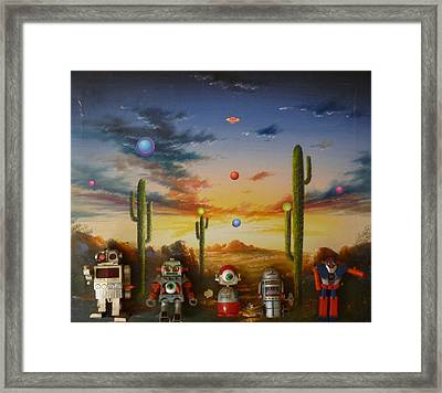 Robot Party  Framed Print