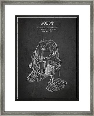 Robot Patent From 2002 - Dark Framed Print by Aged Pixel
