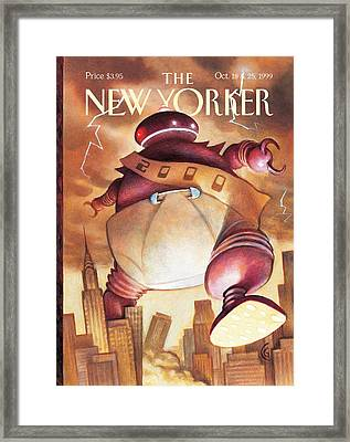 Robotic Baby New Year Framed Print