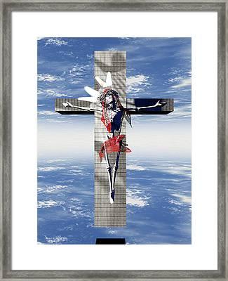 Robotic Christ Made In Spain Framed Print