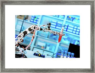 Robotic Lab Assistant Framed Print by Wladimir Bulgar