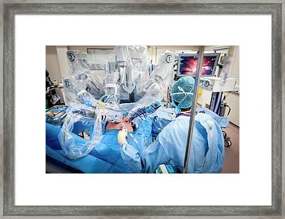 Robotic Prostate Surgery Framed Print by Aberration Films Ltd