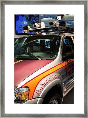 Robotic Vehicle Display Framed Print by Jim West