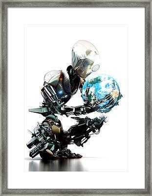 Robotic World Framed Print by Animate4.com/science Photo Libary
