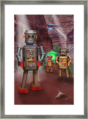 Robots With Attitudes 2 Framed Print by Mike McGlothlen