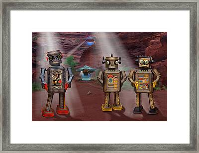 Robots With Attitudes  Framed Print by Mike McGlothlen