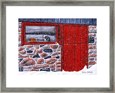 Framed Print featuring the painting Rob's Barn by Ron Haist