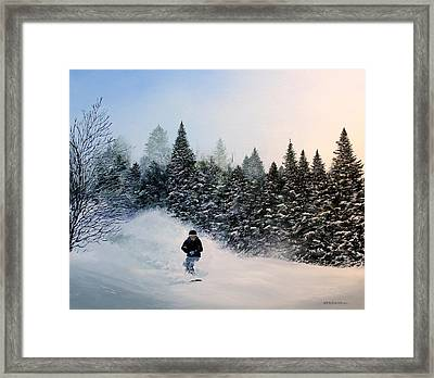 Rob's Run Framed Print by Ken Ahlering