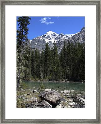 Robson River - Canada Framed Print by Phil Banks