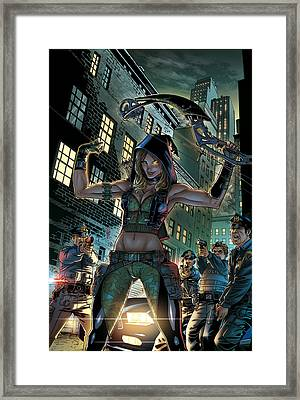 Robyn Hood Wanted 02a Framed Print by Zenescope Entertainment