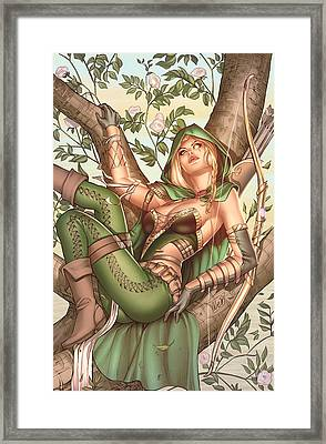 Robyn Hood Wanted 05c Framed Print by Zenescope Entertainment