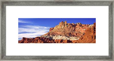 Roc Formations In Capitol Reef National Framed Print