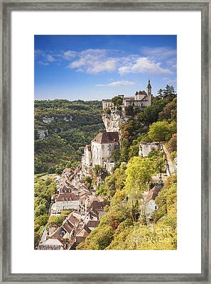 Rocamadour Midi-pyrenees France Framed Print by Colin and Linda McKie