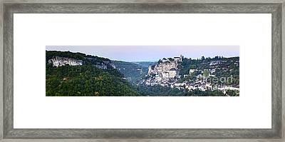 Rocamadour Midi Pyrenees France Panorama Framed Print by Colin and Linda McKie