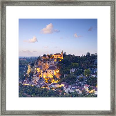 Rocamadour Midi-pyrenees France Twilight Framed Print by Colin and Linda McKie
