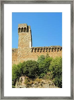 Rocca Aldobrandesca, (11th Century Framed Print by Nico Tondini